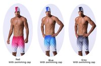 Wholesale Quick Drying Swim Trunks - 2018 New men's swimming trunks Five-minute professional swimming trunks Quick dry gradient ramp men's swimming trunks.