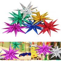 Explosion star balloons Birthday party opening ceremony Wedding decoration Water drop cone Foil balloons Party Supplies 50pcs lot