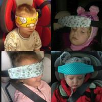 araba sahibi gelmek toptan satış-Bebek Kafası Emniyet Kemeri Ayarlanabilir Çocuklar Uyku Bandı Askı Renkli Araba Koltuğu Uyku Şekerleme Sabitleme Kemerler Yeni Gelmesi 3 2 Z