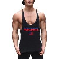 Wholesale gym fit t shirts for sale - Group buy Brand Gyms Clothing Mens Sleeveless T Shirts Summer Cotton Slim Fit Tank Tops Men Bodybuilding Undershirt Golds Fitness Tops