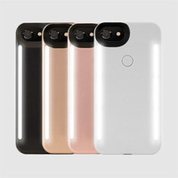 светодиодная крышка для iphone оптовых-LED Light Selfie телефон Case Light Flash световой телефон задняя крышка чехлы для IPhone XS 6 7 8 Plus