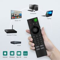 Wholesale ir learning remote - 2.4GHz Wireless Keyboard IR Learning Intelligent Voice Remote Control Durable designed keys Voice remotes for S905W TV Box Smart Android Box
