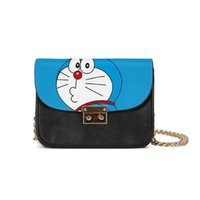 Wholesale anime doraemon for sale - Fashion Japan Style Anime Doraemon Printed Women Handbags Luxury Leather Chain Shoulder Bag Cute Girls Messenger Bags Crossbody