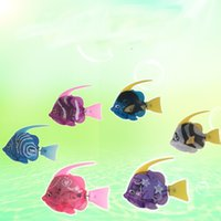 Wholesale animal world toys resale online - Swimming Fish Toy Electric Led Auto Magical Mini Fishes Underwater World Cute Cartoon Toys For Baby Bathing Education Props jy Z