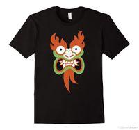 ingrosso antica luce-CN Aku Snarl Ancient Evil Awakens Big Face Graphic T-Shirt T Shirt Stile di estate Moda uomo Tee Shirts Top Tee Light