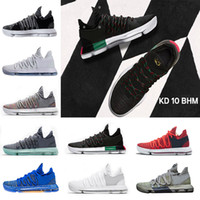 ingrosso elite x scarpe da basket-2018 Nuovi numeri Oreo multicolore KD 10 Scarpe da basket uomo Igloo BHM 10 X Elite Sneakers sportive Kevin Durant