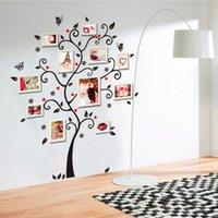 ingrosso carta da parati della decorazione della casa-Home Decoration Foto di famiglia Album di foto Cornice Albero Stickers murali / Adesivo Wall Sticker Murale Art House Decor Wallpaper House