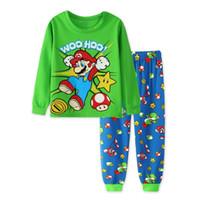 Wholesale Pijamas Boys - Boys Pijamas Kids Set Children's Pyjamas Clothing Sets Kids Pajamas Baby Cartoon Pyjama Enfant Sleepwear homewear WE015