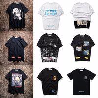 Wholesale clear 16 - New Hot Fashion Sale Brand Clothing Men Print Cotton Shirt T-shirt men Women T-shirt 16 styles S-XL