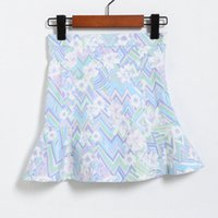 Wholesale fishtail skirts - 2018 Spring New Skirt Korean Print Fishtail Skirt Fashion Sexy Printed Women