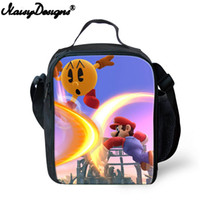 Wholesale insulated purple lunch bag for sale - Group buy Sonic Super Mario Bros Cartoon Printing School Gifts Cute Thermal Picnic Box Lunch Case Lunchbox Students Insulated Lunch Bag