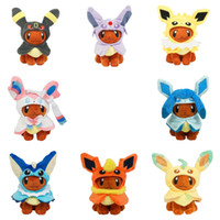 Wholesale flareon doll for sale - Group buy Hot New Styles quot CM Eevee Cosplay Umbreon Espeon Jolteon Sylveon Glaceon Vaporeon Flareon Leafeon Plush Doll Soft Gifts Stuffed Toys