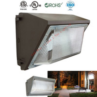 Wholesale Led Wall Packs Wholesale - UL DLC 80W 100W 120W 150W LED Wall Pack Light Waterproof Outdoor Wall Mount LED garden lamp AC 90-277V Mean Well Driver