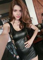 409a098d4 Frete Grátis Nova lingerie sexy cosplay rainha de couro preto perspectiva  backless espartilho hip lace-lace jaqueta de couro