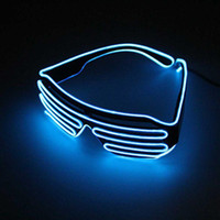 Wholesale new years led glasses - EL Wire Light LED Glasses Bright Light Party Glasses Club Bar Performance Glow Party DJ Dance Eyeglasses light up kids toys
