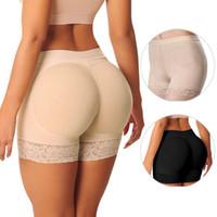 Wholesale Hot Pants Bikinis - Hot Shaper Pant Sexy Boyshort Push Up Pad Panties Women Fake Ass Underwear Fake Butt Pad Buttock Shaper Butt Lifter Hip Enhancer
