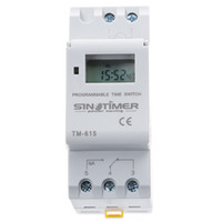 Wholesale electronics timers online - SINOTIMER Electronic Weekly Days Programmable Digital TIME SWITCH Relay Timer Control AC V V V V A Din Rail Mount