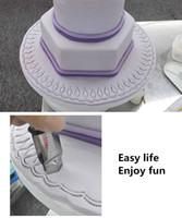 herramientas de talla de metal al por mayor-Cake Lace Flower Edge Clip 5 Estilos de Acero Inoxidable Cake Curva de Encaje Crimper Clip Biscuit Cutter Sugar Baking Carving Grooming Herramientas