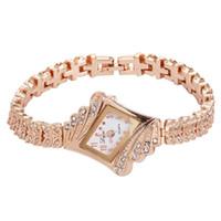 женские часы gemstone оптовых-Lvpai Women Watches  Crystal Bracelet Gemstone Wristwatch Dress Watches Women Ladies Gold Watch Fashion Female  Wat