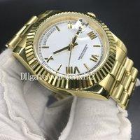 часы оптовых-17-цветные автоматические роскошные часы 41 мм DAY DATE римские цифры Face 2813 Механика 18K мужские часы из нержавеющей стали 6 очков etch