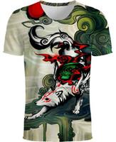 camisa da raposa mulheres venda por atacado-Nova Camiseta 3D Animal Print Camisetas Moda Manga Curta Das Mulheres Dos Homens Unisex Elefante T-Shirt Fox camiseta S-5XL 8 estilos