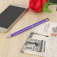 Wholesale pointed stylus pen resale online - 0 MM Refill in Capacitive Touch Screen universal Stylus Ball Point Pen for Touch Screen