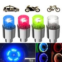 фонарь освещения мотоцикла оптовых-4 цвета Super Power Lights Шины устойчивы к лампам Muiticolor Автоаксессуары велосипедные принадлежности Неоновый синий строб светодиодный колпачок клапана шины мотоцикла
