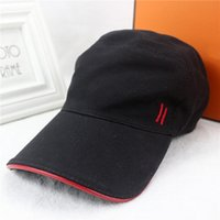 Wholesale Sport H - New packaging high quality fashion H pattern caps outdoor sports leisure duck tongue cap high grade brand hats designer hat with box