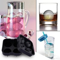 Wholesale whiskey ball mold for sale - 2018 Ice Cream Maker Ice cream balls making molds Bar Drink Whiskey Sphere Big Round Ball Ice Brick Cube Maker Tray Mold