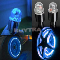 Wholesale Car Wheel Neon Lights - New Nolvety Red Blue Bike Bicyclea Durable Car Wheel Tire Valve Caps Neon Lamp Bicycle Light Bike Accessories