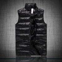 Wholesale Quilted Cotton Jacket - Free send M6609 Men's MONCLE cotton wool collar hooded down vests sleeveless jackets plus size quilted vests Men PAUL vest vests outerwear