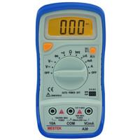 capacidad de rango automático del multímetro al por mayor-PEAKMETER Auto Range Multímetro digital AC / DC Voltage Current Resistance Detector Handheld Temperature Capacitancy Frequency
