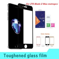 Wholesale Blade 3d - For ZTE Blade Z Max metropcs Zmax Pro 2 Z982 For LG LS777 Stylo 3 plus 3D Protector Full Tempered Glass Retail packaging