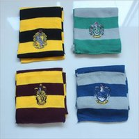 Wholesale classic movie star costumes for sale - Unisex Scarf Costume Accessories Striped Halloween Harry Scarf Costume Cosplay Men Women Kids Wizard Magic Classic Badge Print Scarf