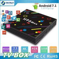 usb 265 venda por atacado-Novo H96 Max TV Box Android 7.1 Inteligente TV-Box 4 GB 32 GB DLNA USB 3.0 2.4G 5G AC WiFi Bluetooth H.265 HEVC 4 K Ultra Media Player MQ10