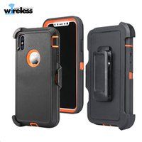 Wholesale For iPhone X XR XS MAX Defender Armor case hybrid Shell Frosted Hybrid Case Slim Shockproof Back Cover for Samsung s9 note