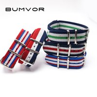 Wholesale nato straps - 2018 Fashion 20mm Multiple Colors Nato Nylon Military Watch Strap Army Sport Watchband Women's strap Watchstrap Belts