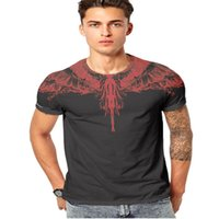 Wholesale summer man cool t shirt resale online - T Shirt New Fashion Summer Hot Sale Wings Skull Tiger Print Men S Clothing Cool Streetwear Casual T Shirts for Men Plenty Color M XL