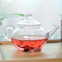 croix en métal chinois achat en gros de-Théière en verre transparent résistant à la chaleur de théière avec Infuser chinois café fleur thé feuille de thé à base de plantes pot 250ml durable bouilloire cadeau shippin gratuit