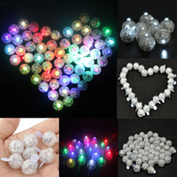fenerler için mini led ışıklar toptan satış-Yeni LED Balon Işık Mini Yuvarlak Şekil Parlayan Işık Kağıt Fener Doğum Günü Düğün Noel Bar Parti Dekorasyon Malzemeleri HH7-1233