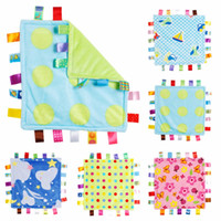 Wholesale taggies toys for sale - Group buy 30 cm Baby Appease Towel Baby Comforting Taggies Blanket Super Soft Square Plush Toy Baby Appease BB Water Bath Shower Towel