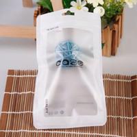 bolsas de plastico para celulares al por mayor-Cremallera plástica Accesorios del teléfono celular Bolsa de la caja del teléfono móvil Paquete de embalaje Bolsa para iPhone 8 7 6S 6 Plus