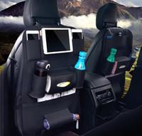 araba koltuğu düzenli toptan satış-4 stilleri Araba Iç Aksesuarları depolama Cepler Taşınabilir Stoling Tidying Araba-styling Evrensel Araba Arka Koltuk Organizatör Saklama Çantası FFA920