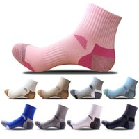 Wholesale cotton crew socks for women - Women Men Crew Socks for Sport Breathable 20 Pairs Lot Pink Blue Black Cotton Polyester Spandex Casual Socks Free DHL G510S