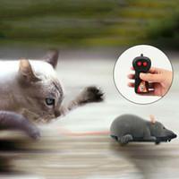 ingrosso giocattolo del gatto del mouse del telecomando-Giocattolo del gatto Telecomando senza fili Mouse elettronico RC Mouse giocattolo Animali Gatto giocattolo Mouse per bambini giocattoli Mischief Mouse elettronico Prezzo di fabbrica