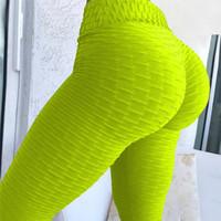 orange yogahose groihandel-Neue Honeycomb Printed Frauen Fitness Leggings Skinny Hohe Taille Elastische Push Up Legging Workout Hosen Frauen Workout Yoga Leggins 2018