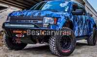 Wholesale blue color car sticker - Digital Blue Pixel Camouflage Vinyl For Car Wrap Camo style Covering Film with air release   Bubble Free Size 5x(32ft 67ft 98ft )