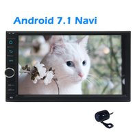 Wholesale Android Phone 7inch - Android 7.1 Nougat System in Dash Eincar 7inch Double din Car Stereo GPS Navigation Autoradio Bluetooth Dual Cam-in Rear Camera for parking