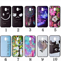 Wholesale iphone case luxury lace - Black Soft TPU Case For Galaxy (J2 Pro J4 J6)2018 Huawei P20 Lite P20 Fashion Dreamcatcher Flower Lace Butterfly Eye Luxury Coque Cover Gel