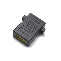conector hdmi tv al por mayor-10 unids HDMI Conector HDMI Hembra a HDMI Hembra con Agujero de Tornillo Adaptador Extensor de Pareja para HD TV HDCP 1080P Convertidor